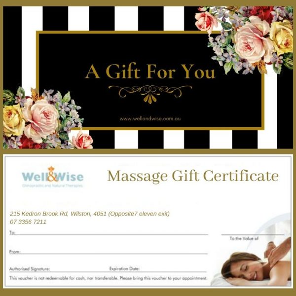 Massage Gift Certificate Well&Wise