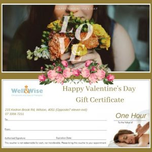 Happy Valentine's Day Massage Gift Certificate